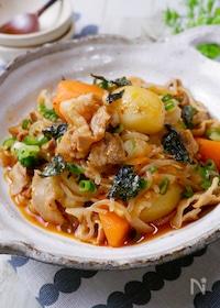『ピリッと美味しい!豚バラで作る『韓国風肉じゃが』』