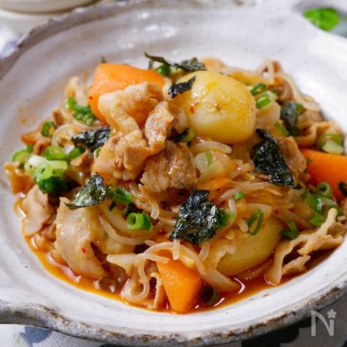 ピリッと美味しい!豚バラで作る『韓国風肉じゃが』