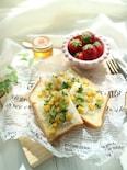 子どもの朝食に♡親子で作ろう♪しらすとコーンのトースト