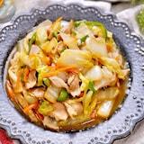 もりもり食べれる♡『豚バラと白菜の中華風野菜炒め』