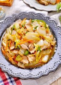 『もりもり食べれる♡『豚バラと白菜の中華風野菜炒め』』