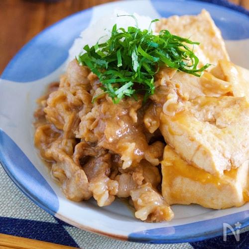 調味料3つ&水分なし『おろしポン酢de無水!重ね煮肉豆腐』
