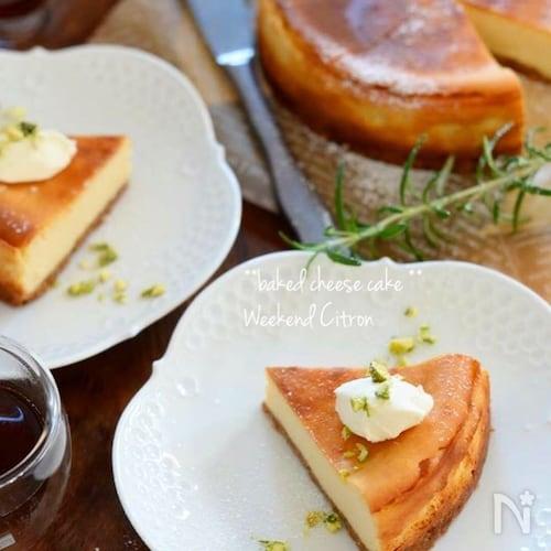 レモン香る♪さっぱりヘルシー〜ヨーグルトチーズケーキ〜