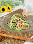 夏副菜*きゅうりとカニカマの旨レモン和え《切って混ぜるだけ》