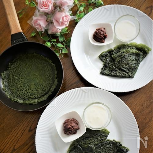 濃厚抹茶の米粉クレープ