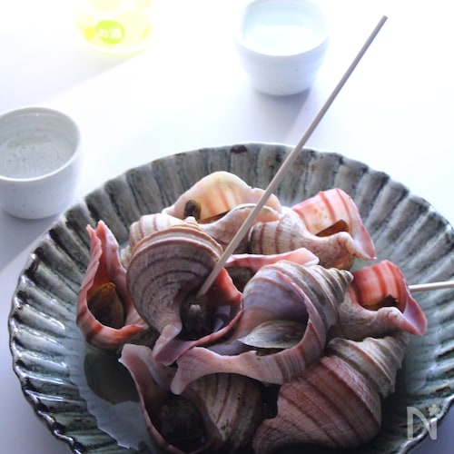 の つぶ 食べ 方 貝 青つぶのホットプレート焼き♡♥ レシピ・作り方