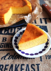 『【しっとりなめらか♡かぼちゃのチーズケーキ】私の永久保存版!』