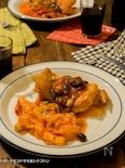 チキンのトマト煮込&春巻きの皮で茹でないトマトクリームパスタ