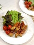 【10分で完成】簡単コクうま♡エリンギの肉巻きオイマヨ焼き