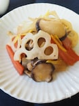 たっぷり根菜の炒め煮