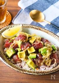 『甘タレが美味しい!マグロでポキ丼』
