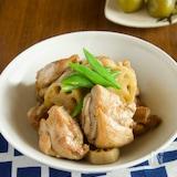 鶏肉とれんこんの煮物【作り置き・梅酒の梅利用】