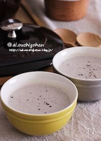 『牛乳すら不要♡マッシュルームと豆腐のポタージュ風濃厚スープ♡』