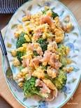 【5分de完成】うまみん♪ブロッコリーと生ハムの卵サラダ♪