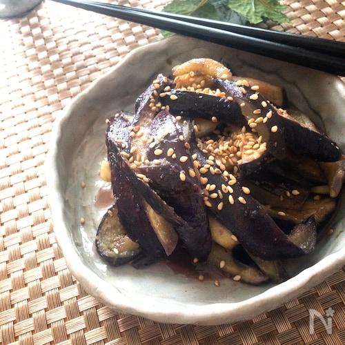 レンジ調理で5分で完成♡無限なすの中華サラダ