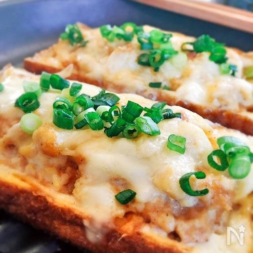 厚揚げのツナ・マヨのせ☆チーズ焼き