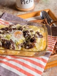 ミルクポテトとコーンビーフのチーズ焼き