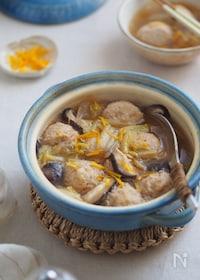 『ダブルスープで旨み倍増♡ふわふわ鶏団子の春雨スープ』