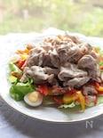野菜も一緒に食べよう♪冷しゃぶサラダ