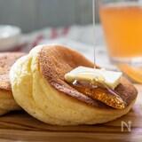 卵1個で作る♡ふわふわのスフレパンケーキ(HM使用)