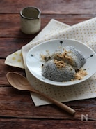 黒ごまのお豆腐ババロア。
