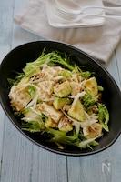 アボカドとちぎり豆腐のひき肉サラダ【#焼肉のたれ#レンジ】