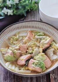 『レンチンのみで完成♡秋鮭と白菜のレンチンごま旨ポン蒸し』