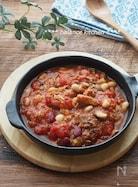 材料4つ&10分!さば缶と豆のトマト煮