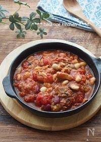 『材料4つ&10分!さば缶と豆のトマト煮 』