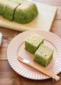 『ホットケーキミックス&電子レンジで簡単♪抹茶ケーキ』