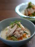 ベジヌードルと豚しゃぶの豆乳味噌スープ。