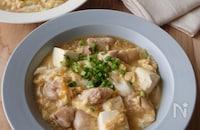 鶏肉と豆腐の卵とじ