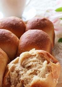 『HBでふんわり美味しい♡たっぷりきな粉とミルクのちぎりパン』