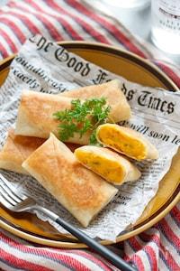 かぼちゃとチーズの春巻き【#簡単 #揚げない #ハロウィン】
