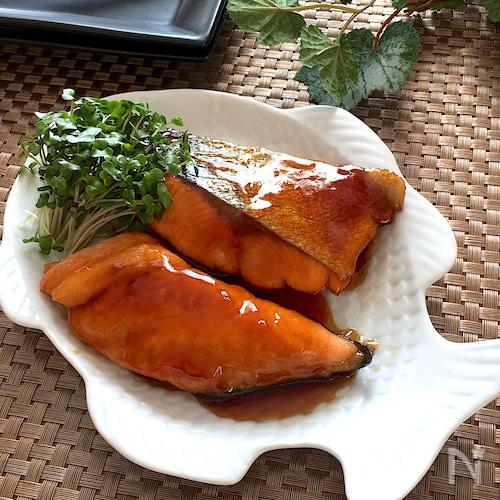 テリテリ美味・調味料一律大さじ1♡生鮭の甘酢照り焼き