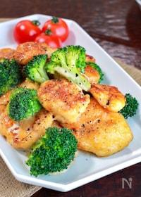 『【鶏肉とブロッコリーのオイマヨ炒め】にんにく香る♬︎』