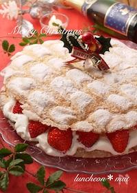 『型不要*パンビー*簡単クリスマスケーキ*ぶきっちょさんにも☆』