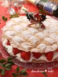 型不要*パンビー*簡単クリスマスケーキ*ぶきっちょさんにも☆