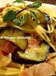 茄子とベーコンの簡単ガーリックバターパスタ♪