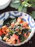 さっぱり!お口直しになる♡トマトとわかめの生姜ポン酢サラダ