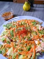 \残り野菜で作れる/人参と青ネギ・かぶの葉・タコのチヂミ
