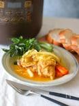 野菜ジュースでチキンとキャベツのトロトロ煮込み