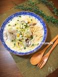 フライパン1つで!白菜と舞茸のコーンクリームスープパスタ