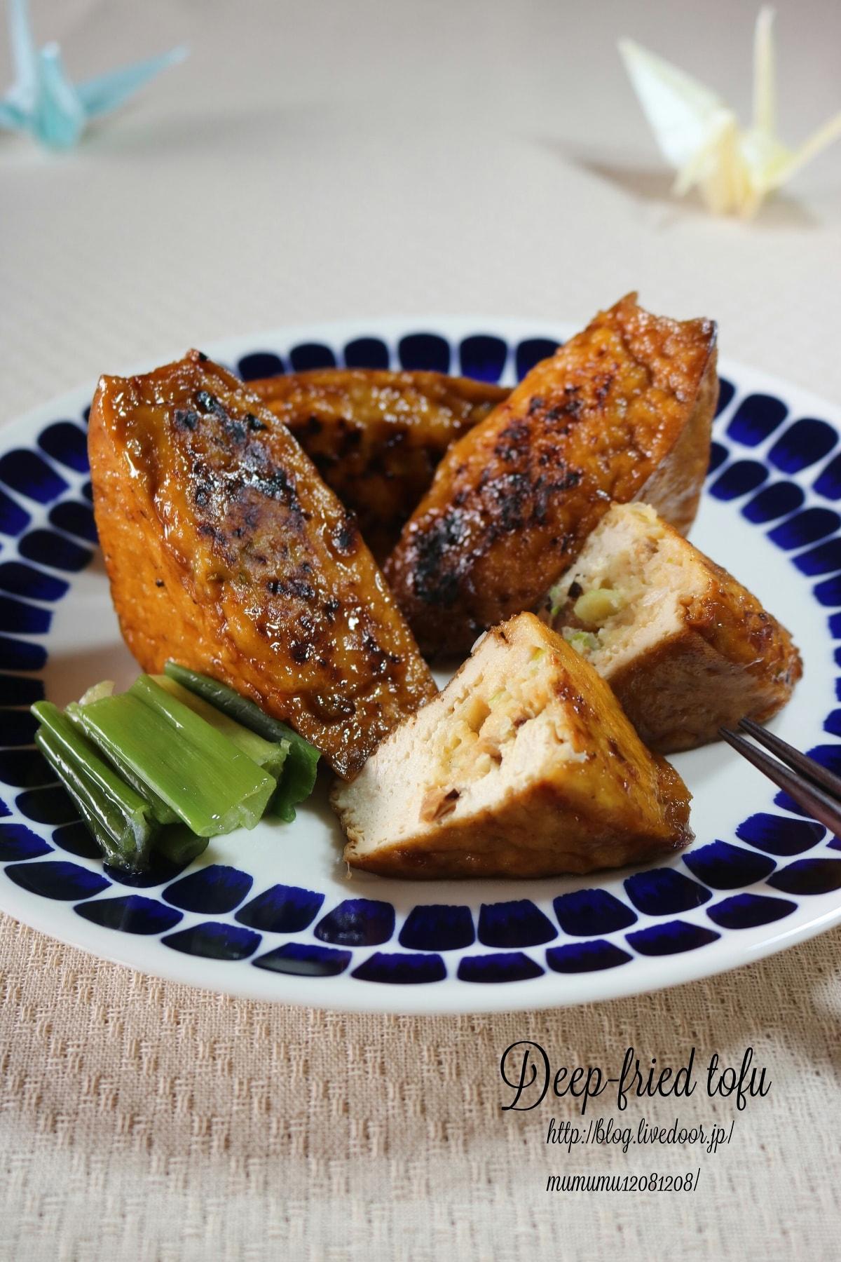 4. 【鶏】常備菜にも。厚揚げの肉詰め