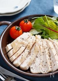 『むね肉de塩ダレチキン(鶏ハム)【#下味冷凍 #レンジ】』