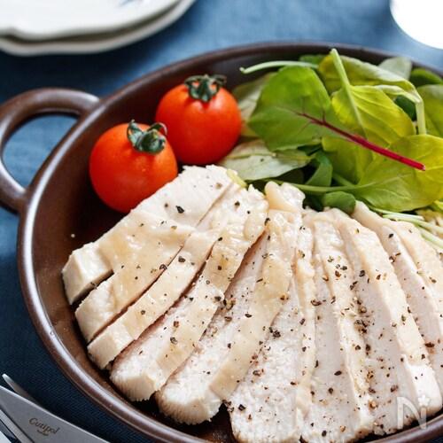 むね肉de塩ダレチキン(鶏ハム)【#下味冷凍 #レンジ】