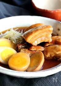 『豚の角煮と煮玉子(動画あり)』