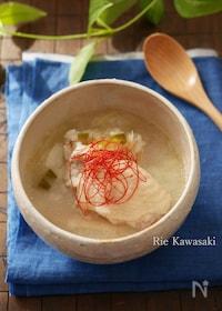 『炊飯器で作る参鶏湯風雑炊』