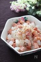 アツアツ最高♡大根とブロックベーコンの旨塩とろみ煮