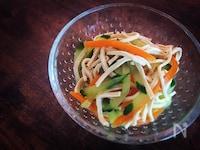 【スライサー副菜】干豆腐の胡麻油和え